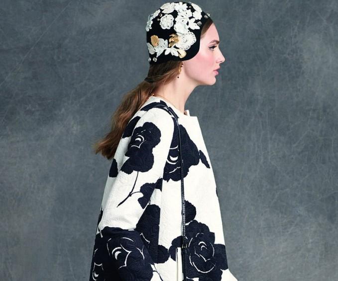 Dolce & Gabbana Floral-Print Topper Coat-