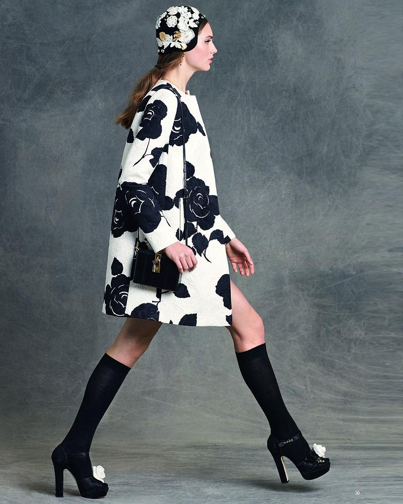 Dolce & Gabbana Floral-Print Topper Coat