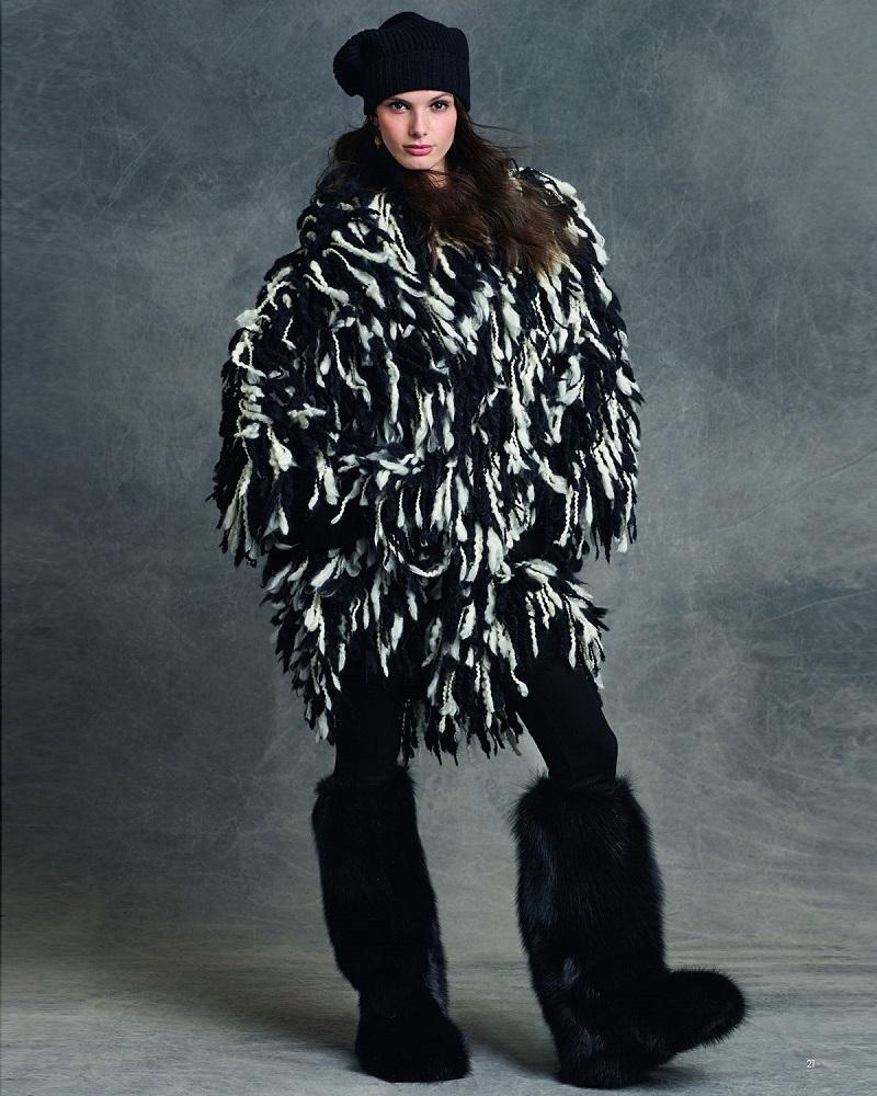 Dolce & Gabbana Fringe Shaggy Wool-Blend Coat