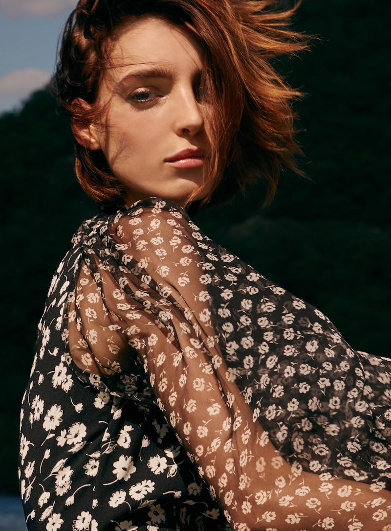 Dolce & Gabbana Silk Tie Neck Printed Dress
