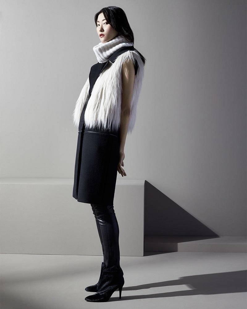 Elie Tahari Lilian Faux-Fur Vest