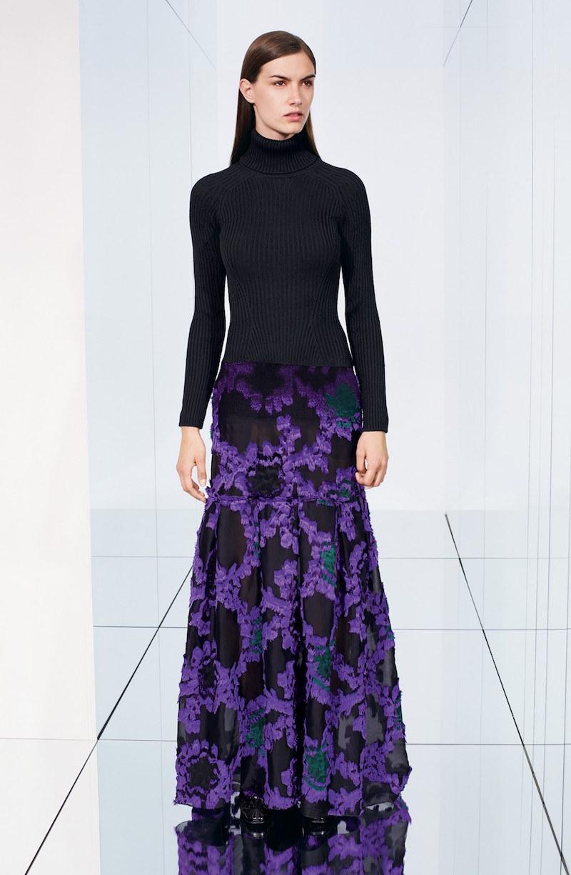 Erdem Merino Wool & Floral Fil Coupé Jacquard Gown