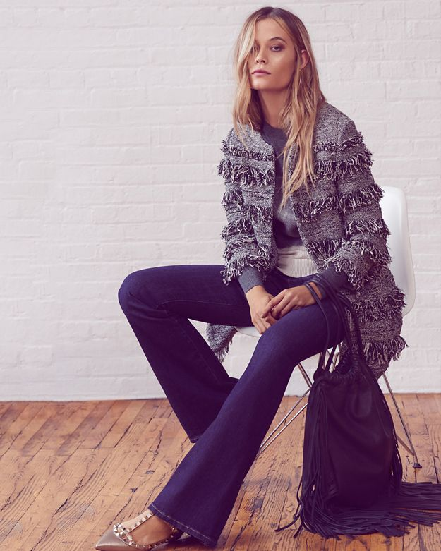 Exclusive for Intermix Layered Fringe Coat