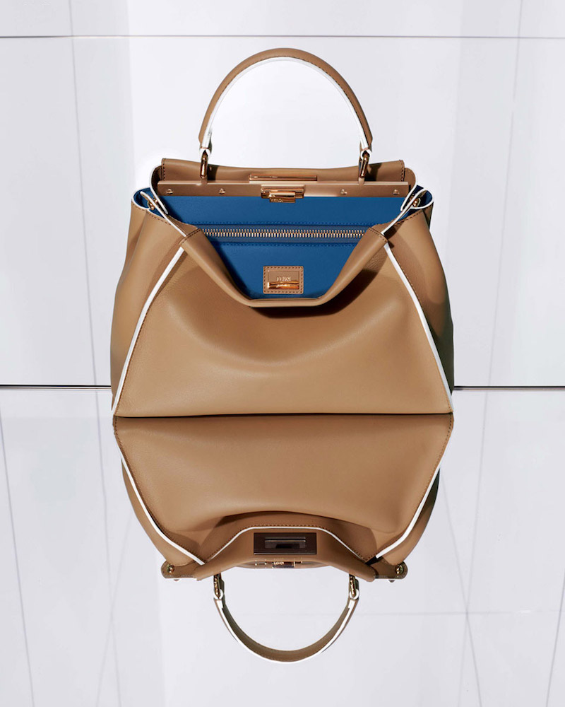 Fendi Large Peekaboo Leather Satchel
