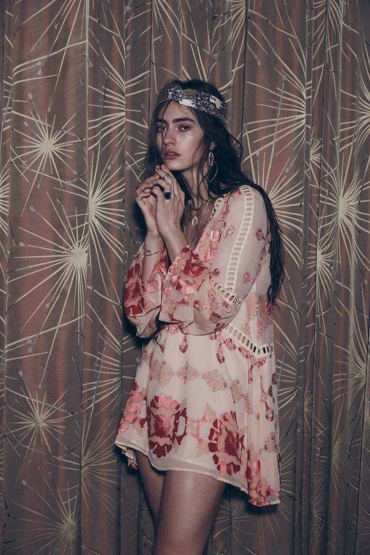 For Love & Lemons Barcelona A-Line Dress