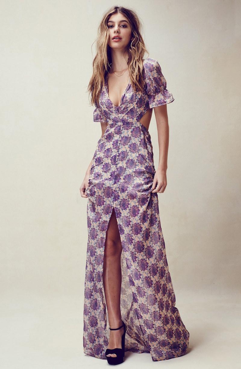 For Love & Lemons Clover Maxi Dress
