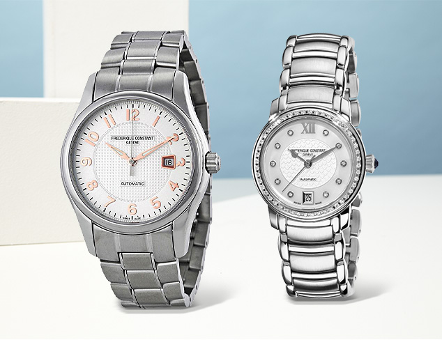 Frederique Constant Watches for Him & Her at MYHABIT