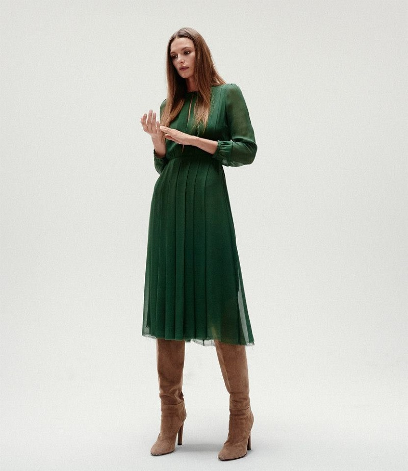 Gabriela Hearst Knife-Pleated Dress