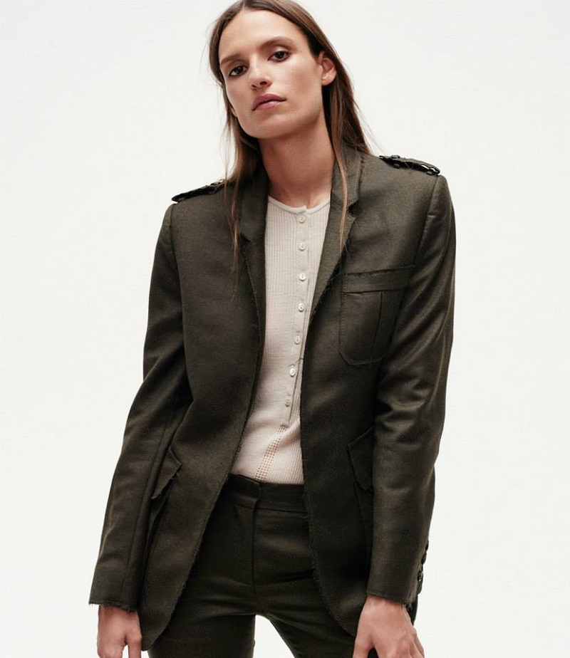 Gabriela Hearst Raw-Edge Field Jacket