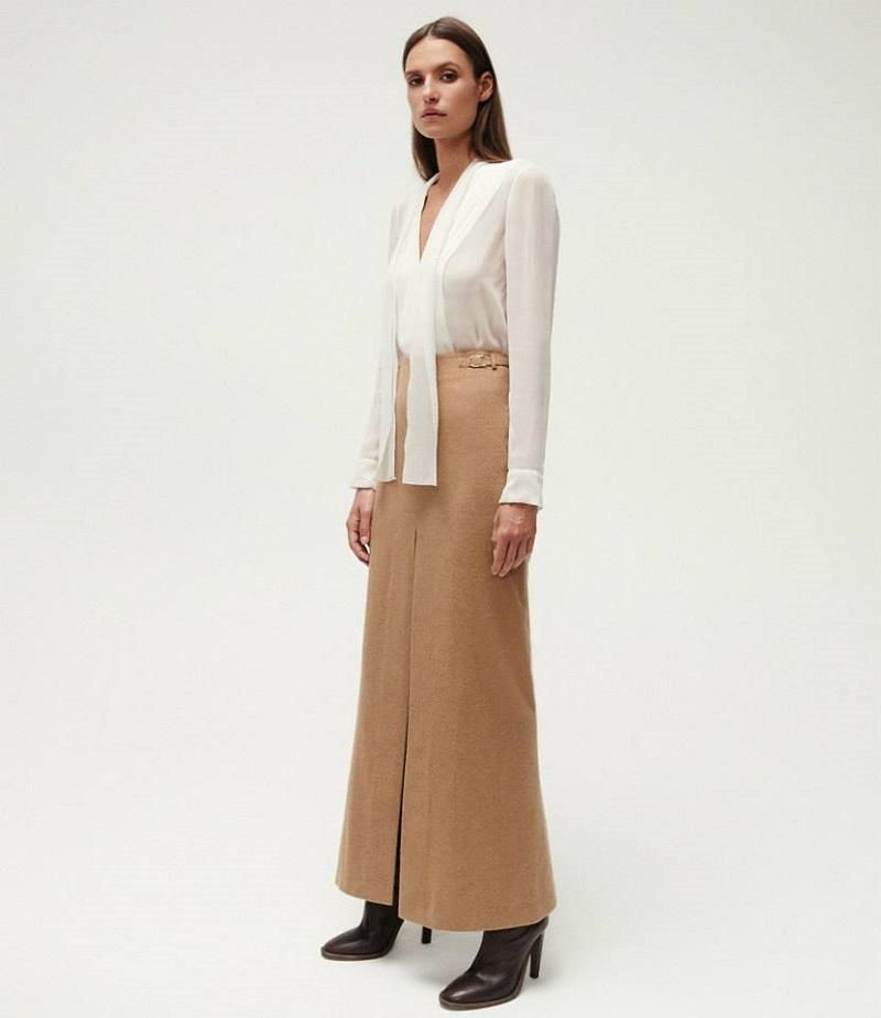 Gabriela Hearst Slit-Front Long Skirt