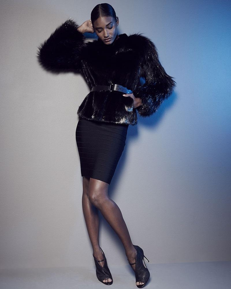 Giuliana Teso Metallic Mink & Fox Fur Jacket
