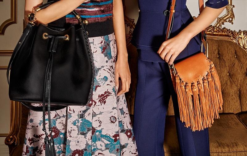 Hudson Small Leather & Suede Tassel Shoulder Bag