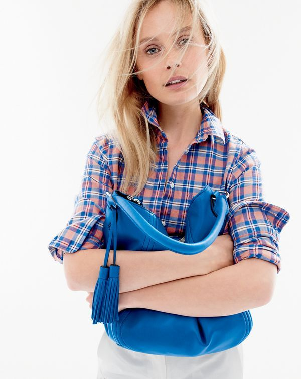 J.Crew Boy shirt in pink and blue plaid