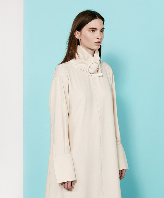 J.W. Anderson Buckle-detail crepe dress
