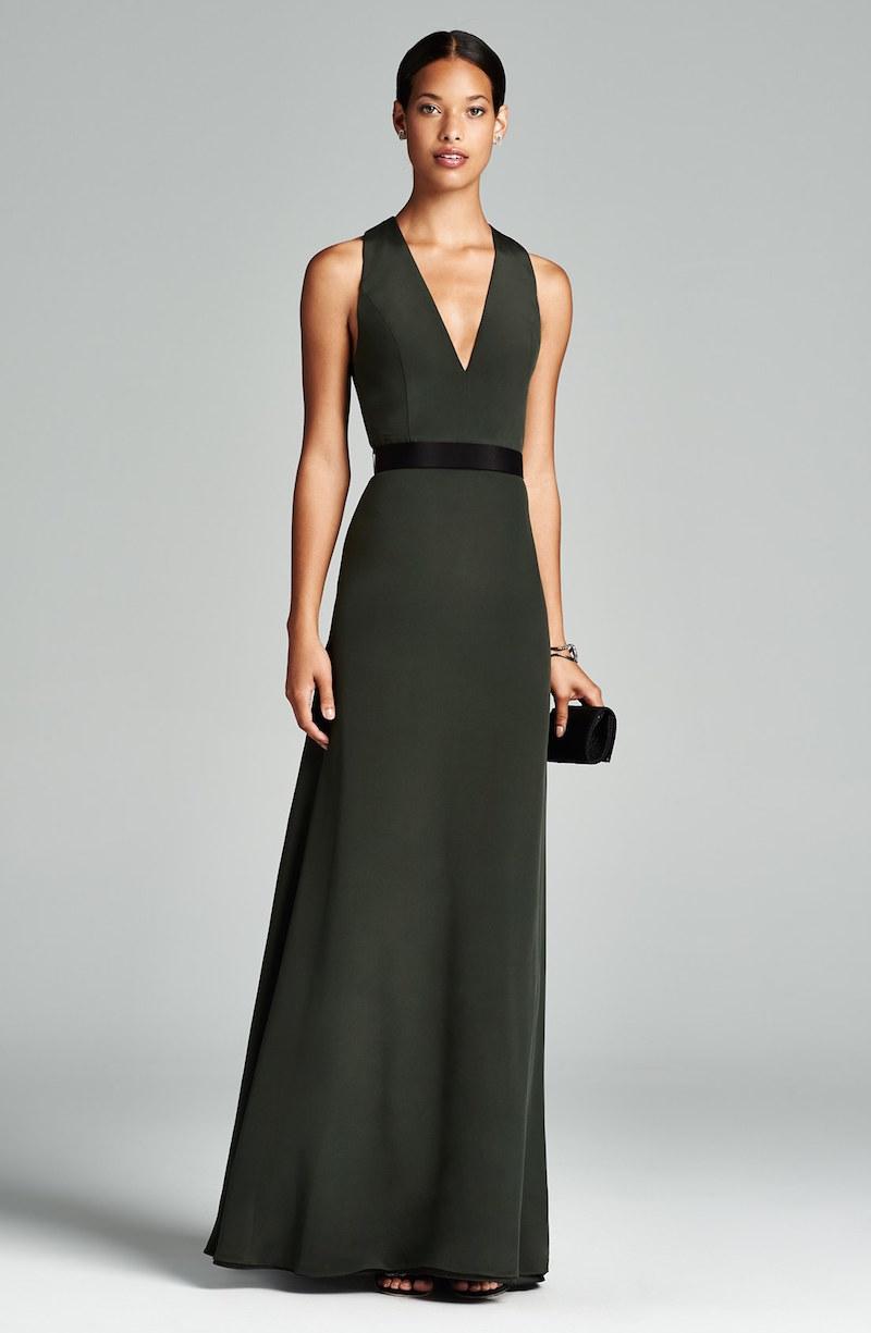 Jill Jill Stuart Belted Crepe Gown