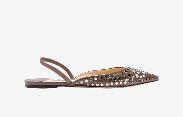 Jimmy Choo D'Orsay Sling-Back Patent Leather Flat