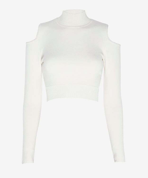 Jonathan Simkhai Cut Out Shoulder Knit Crop Top_1