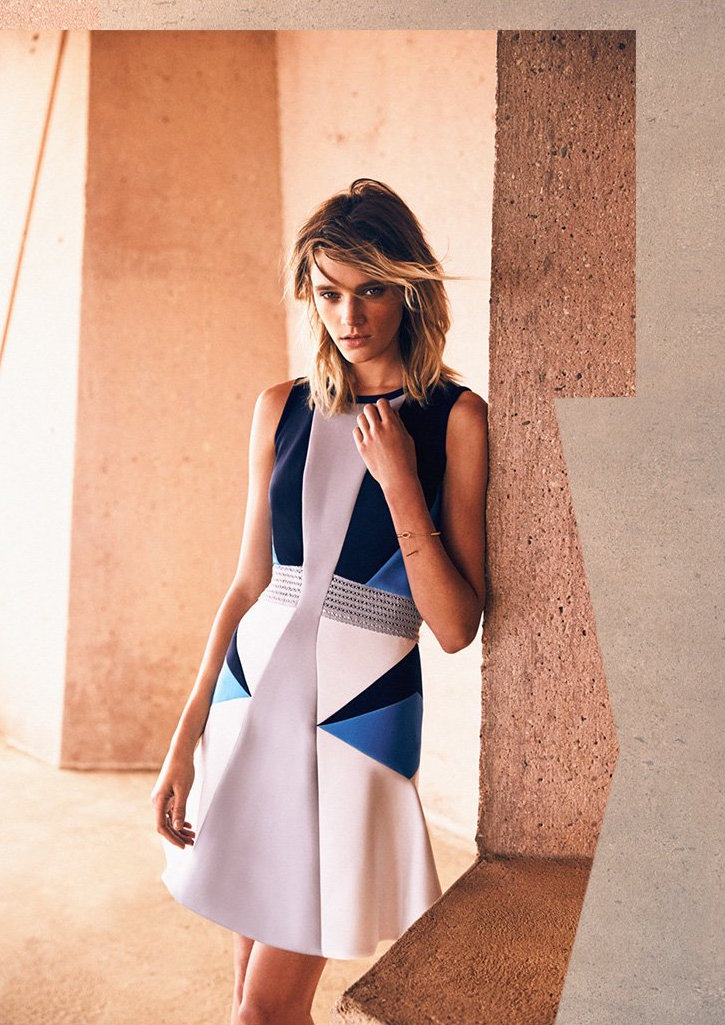 Jonathan Simkhai Geo Pima Flare Dress