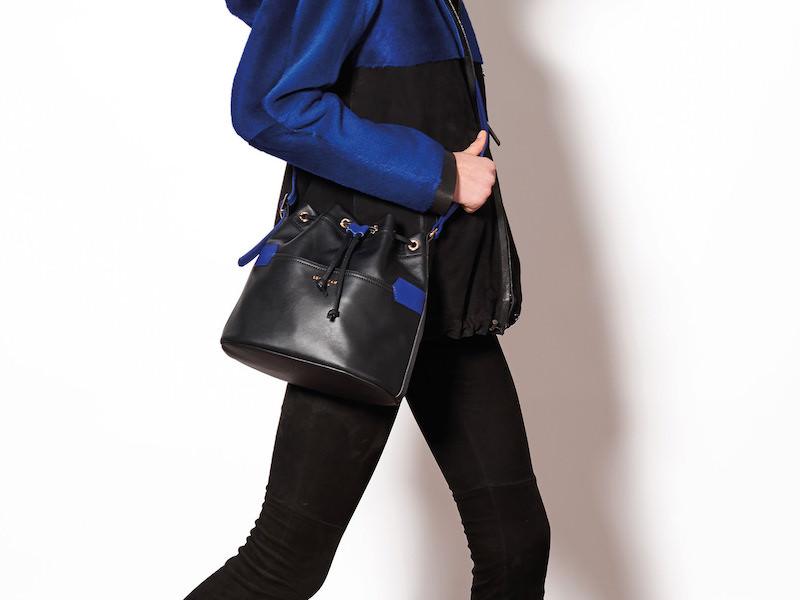 Longchamp 2.0 Leather Bucket Bag