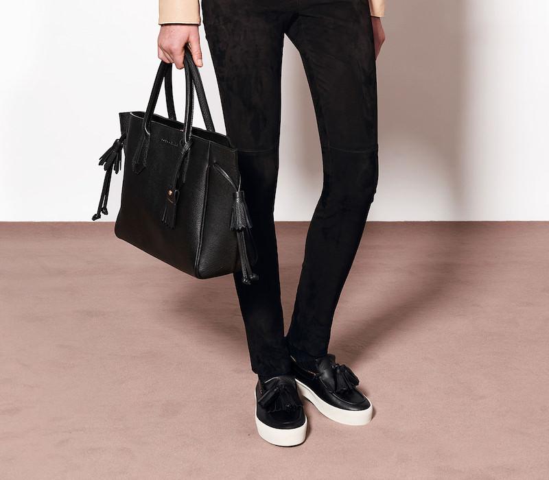 Longchamp Medium Penelope Tote_Black