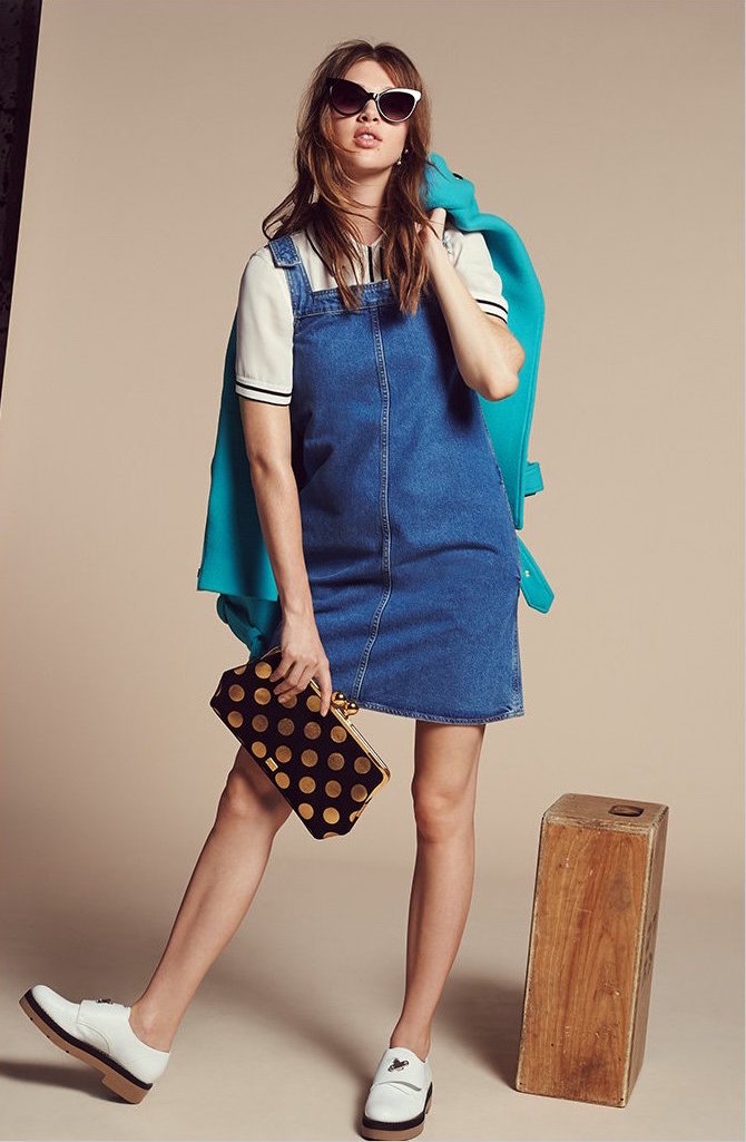 MiH The Protest Denim Pinafore Dress