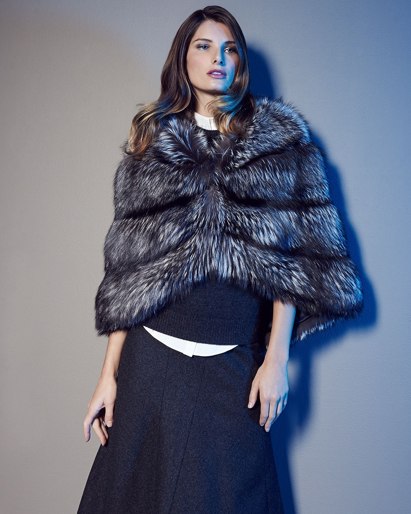 Michael Kors Fox Fur Cape