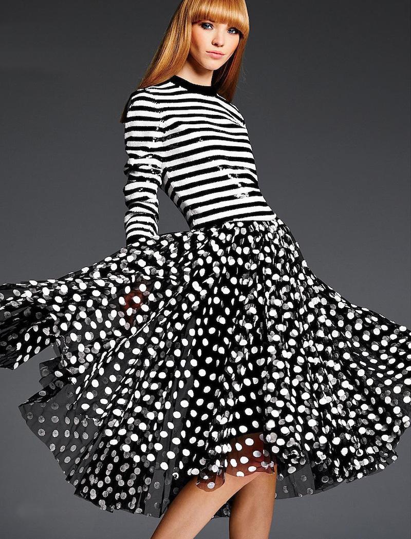 Michael Kors Paillette-Dot Tulle Skirt