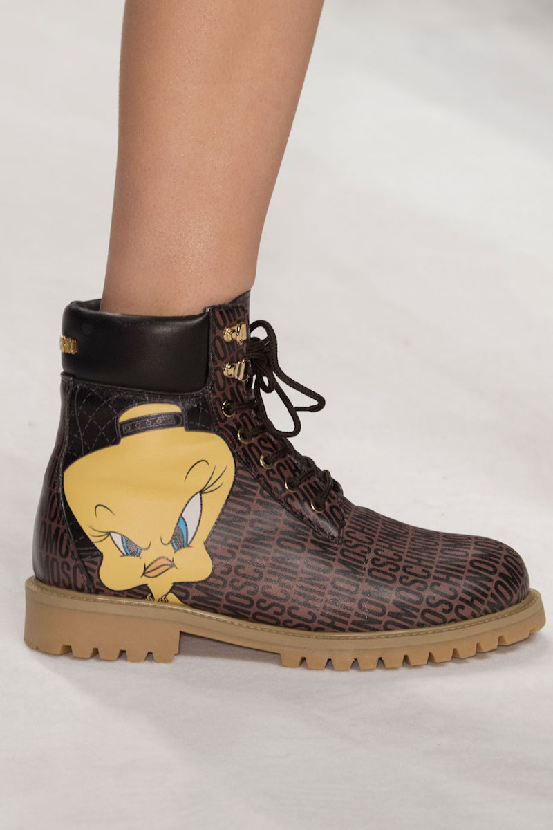 Moschino Looney Tunes Leather Hiking Boot
