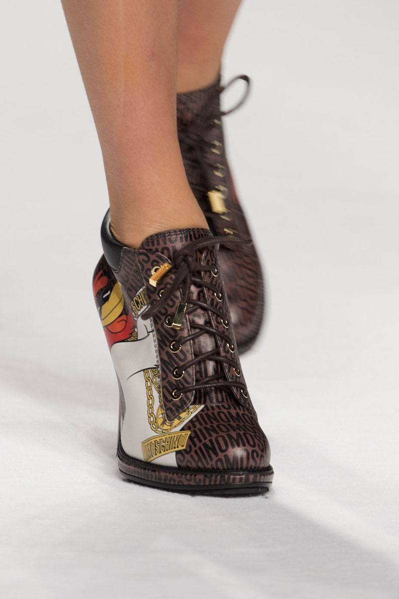 Moschino Looney Tunes Leather Stiletto Bootie