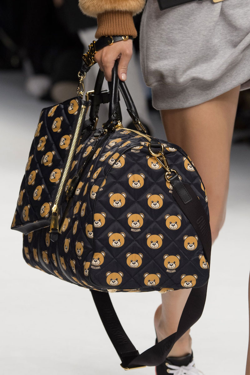 Moschino Quilted Teddy Bear Clutch Bag