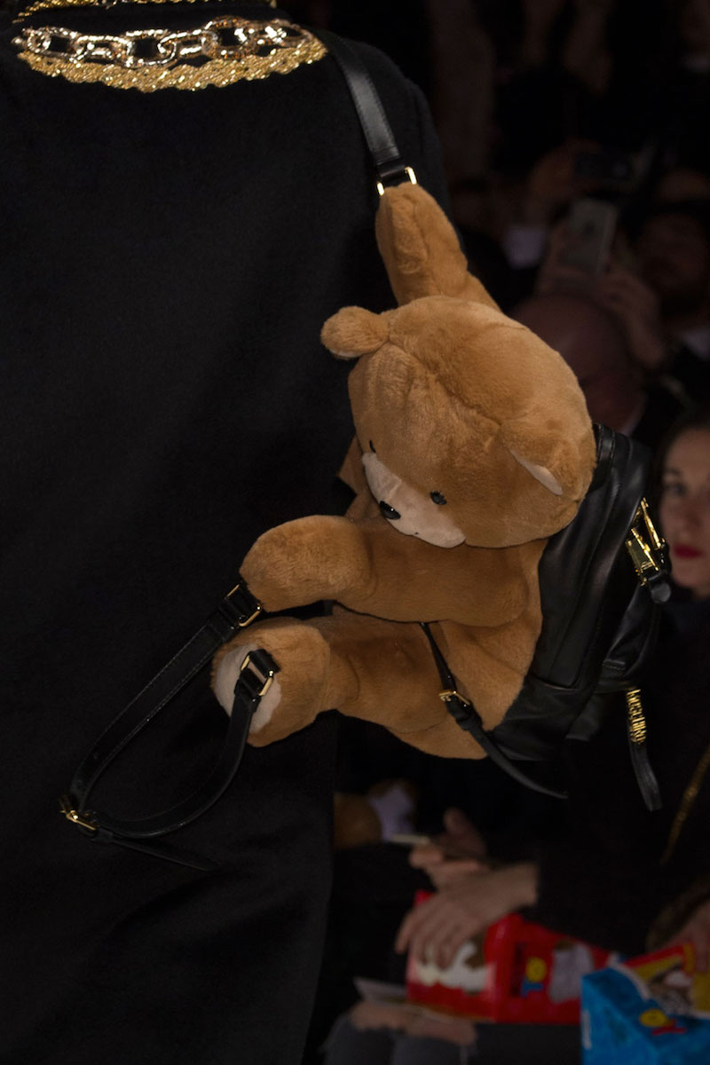 Moschino Teddy Bear Leather Backpack