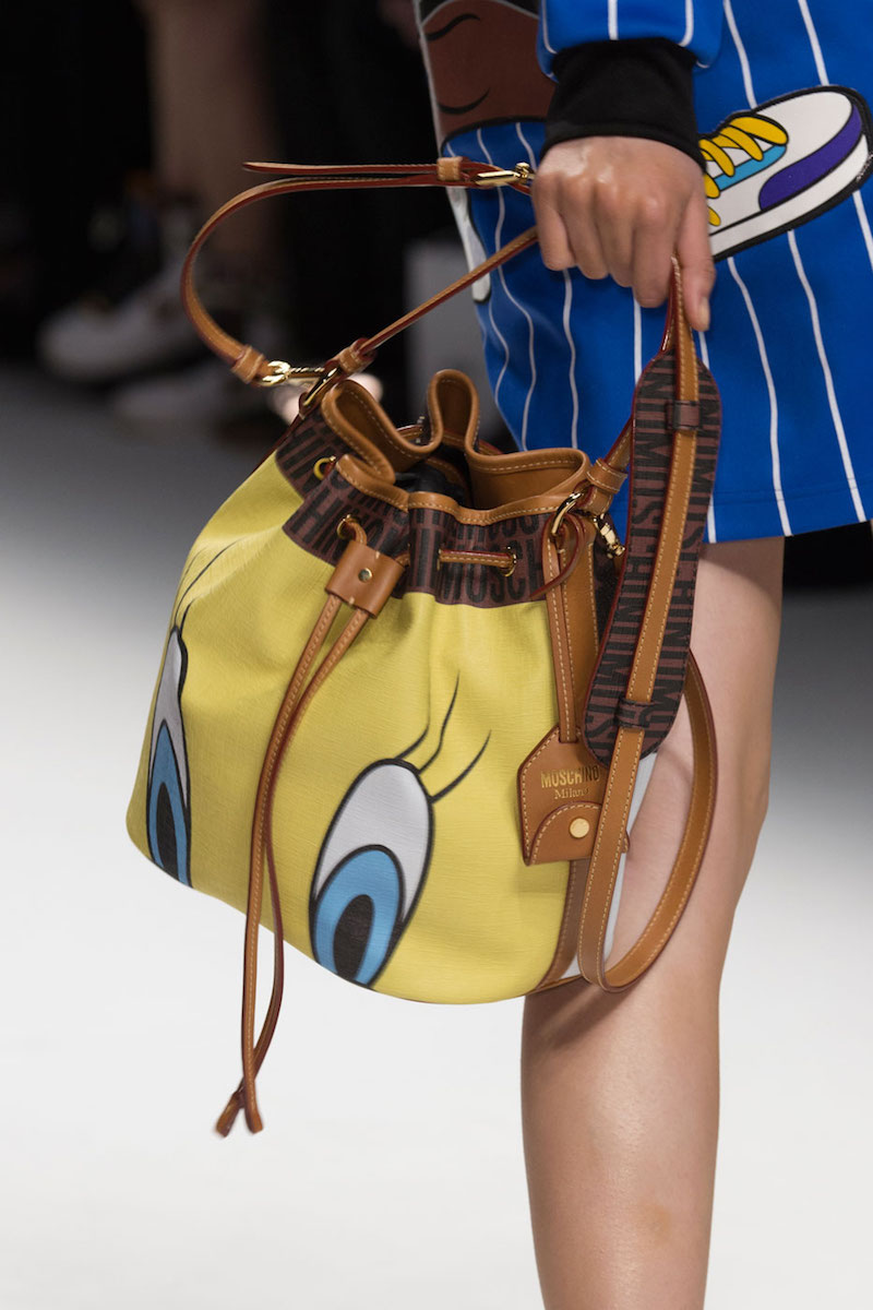 Moschino Tweety Bird Bucket Bag Yellow Multi
