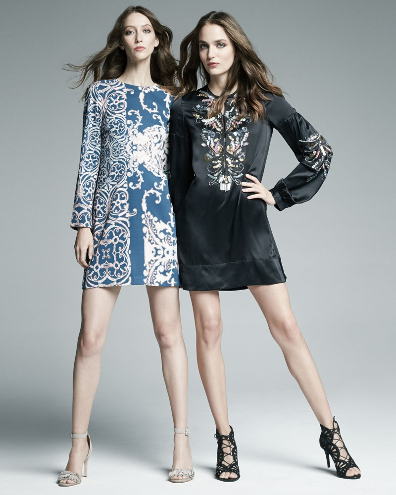 Nanette Lepore Long-Sleeve Paisley-Print Dress