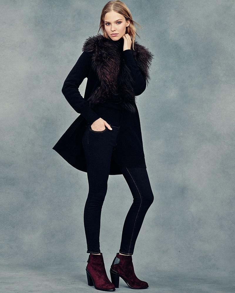 Neiman Marcus Cashmere Collection Tibet Fur-Trim Cashmere Cardigan