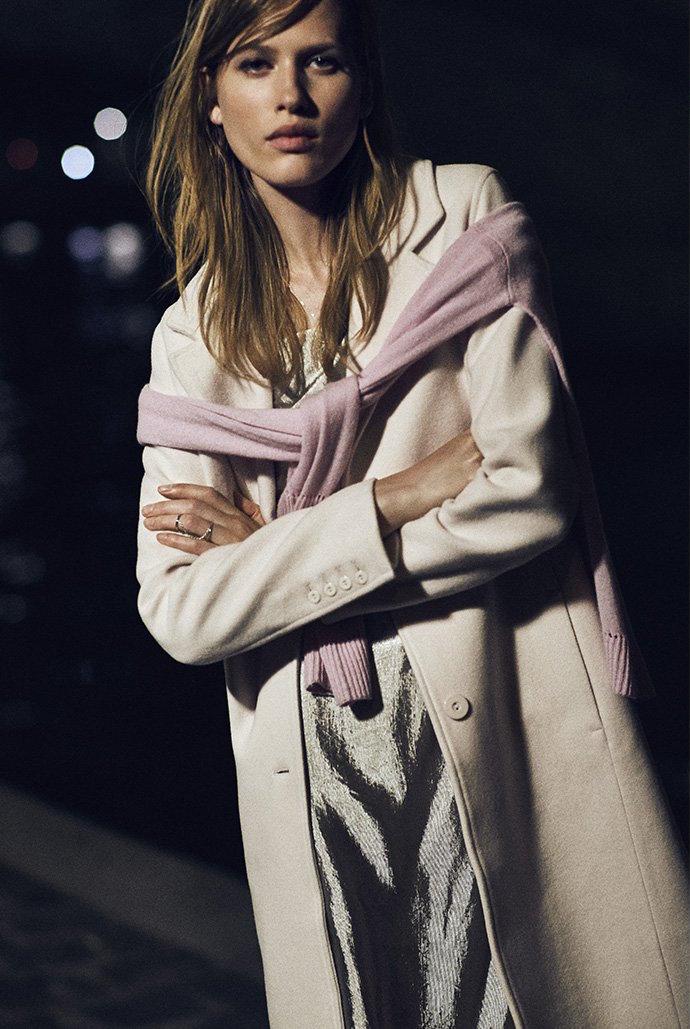 Nicholas Wool 3/4 Length Coat