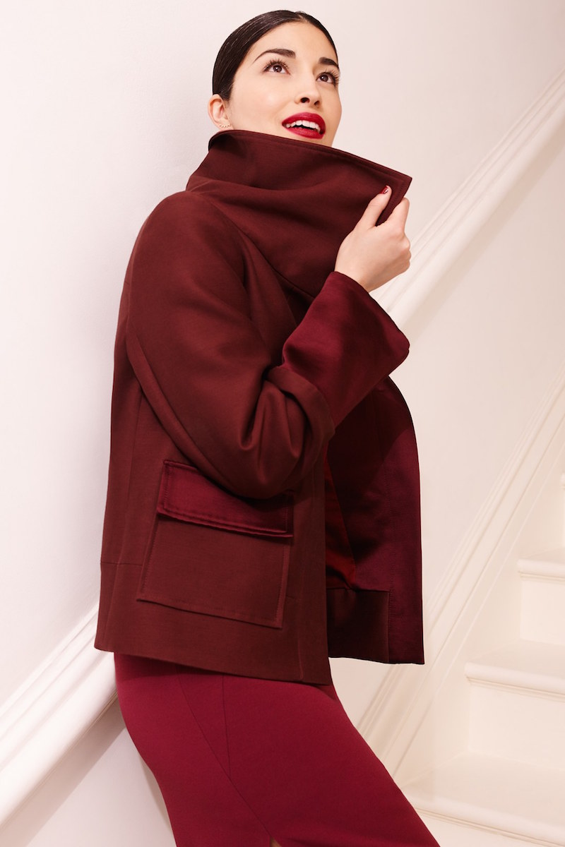 Nordstrom Signature and Caroline Issa Annabelle Wool & Silk Coat