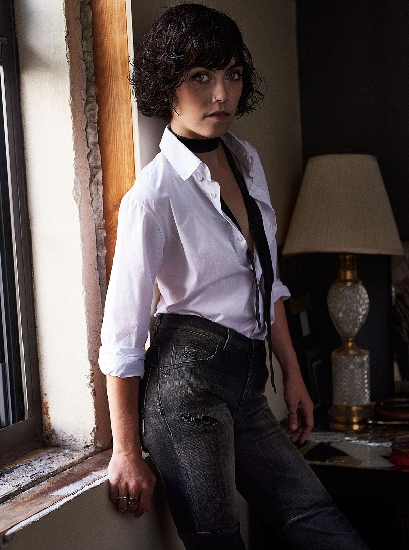 R13 Shirt With Leather Necktie
