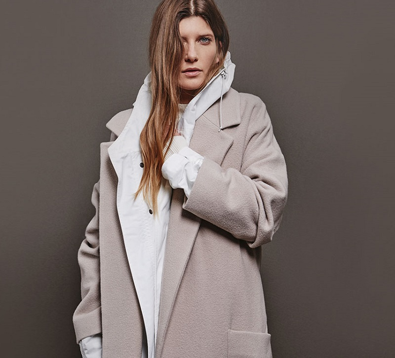 Raey Cashmere and wool-blend blanket coat
