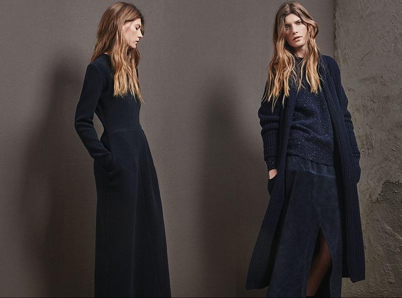 Raey Long-sleeved double-crepe dress