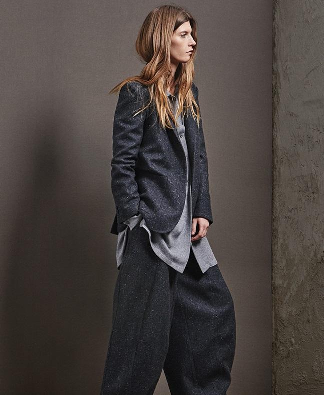Raey Longline donegal-tweed blazer