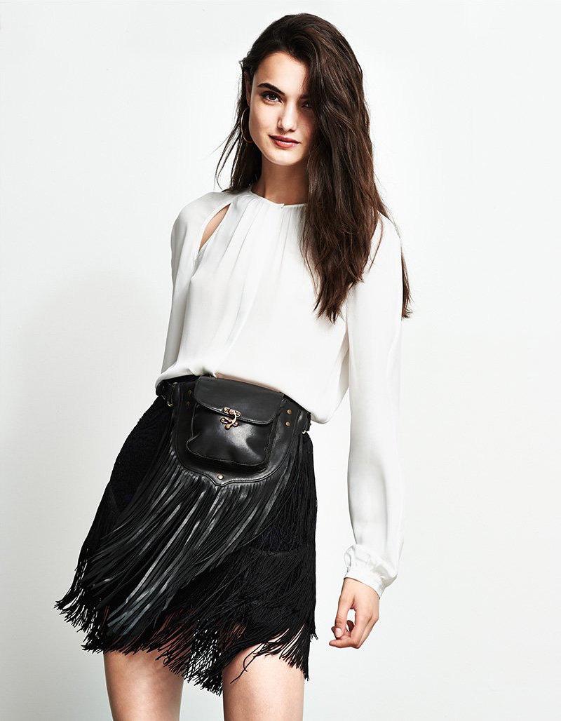 Rebecca Minkoff Mia Fringe Skirt