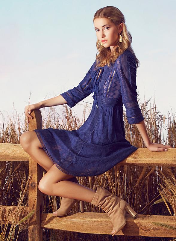 Rebecca Taylor Embroidered Silk Chiffon Dress