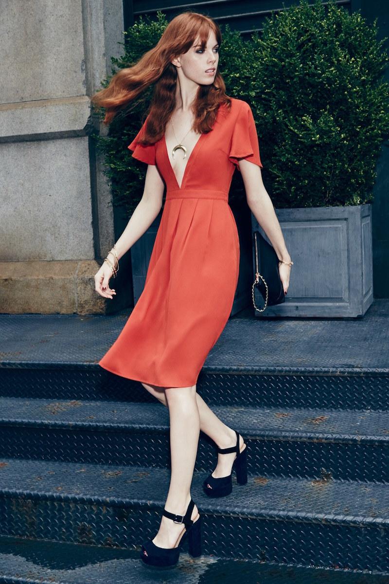 STOREE V-Neck Midi Dress
