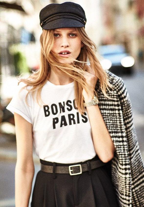 SUNDRY Bonsoir Paris Boy Tee