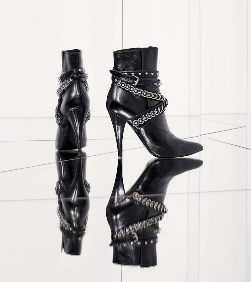 Saint Laurent Fetish Pointy Toe Bootie