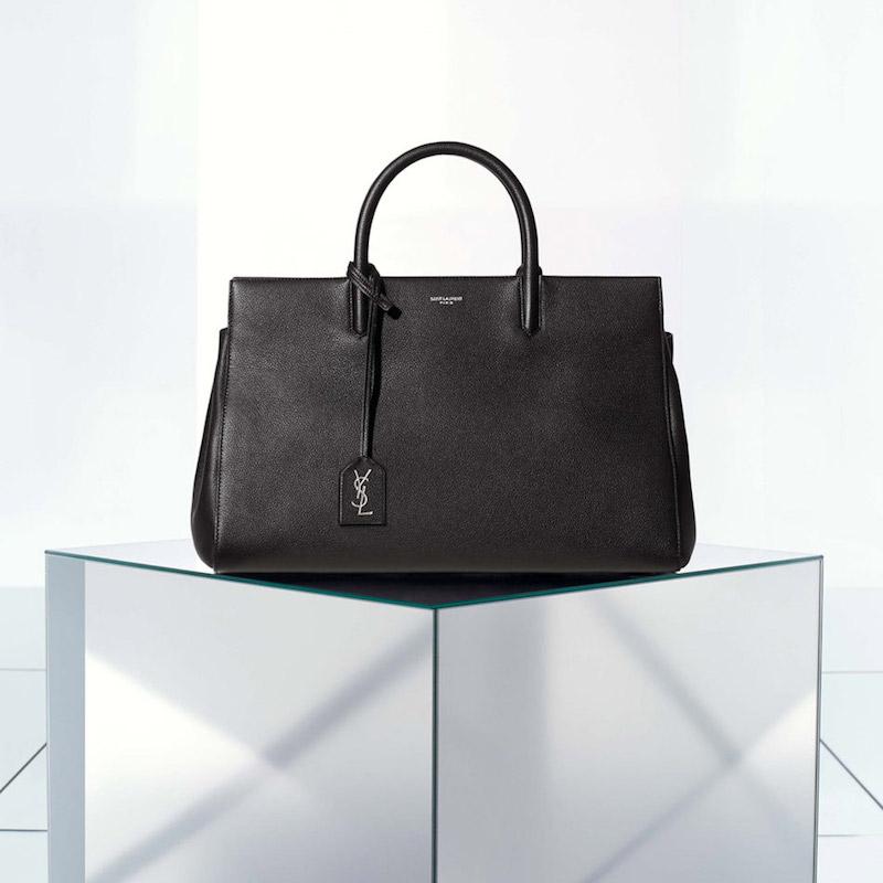 Saint Laurent Medium Cabas Leather Satchel