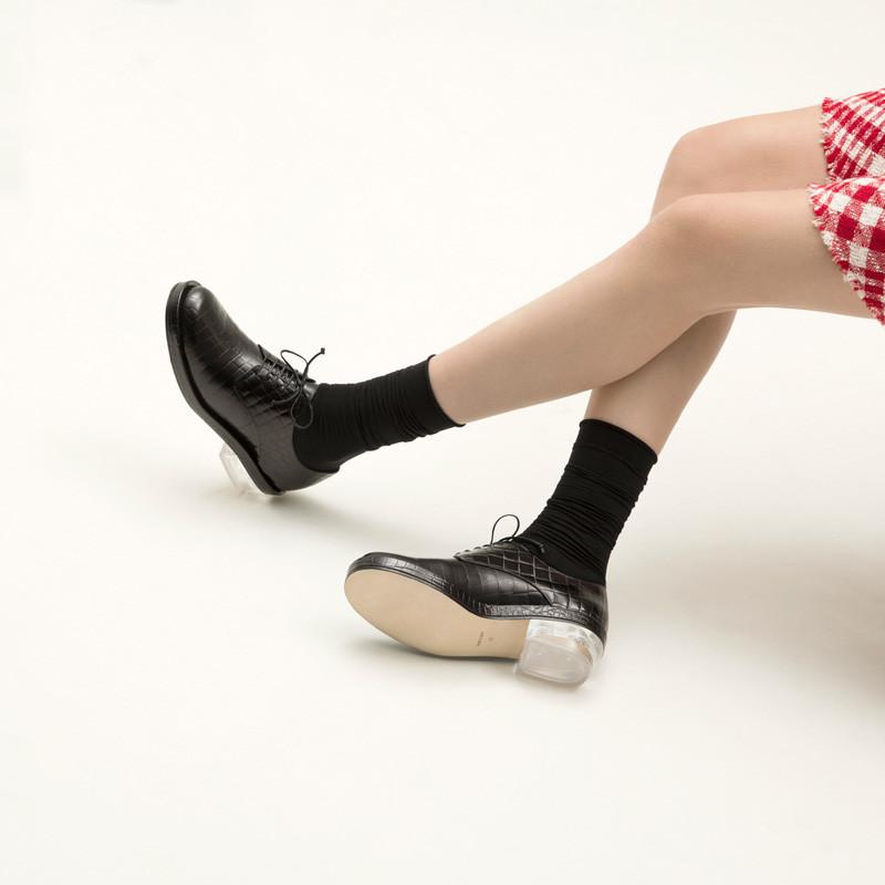Simone Rocha Black Croc Clear Heel Derbys