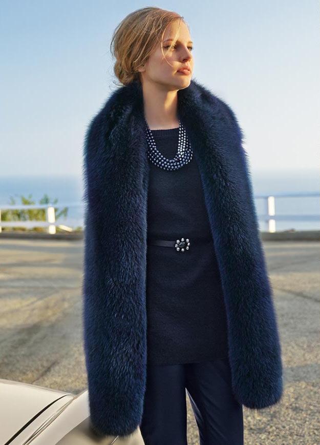 St. John Collection Knit Vest with Detachable Fox Fur