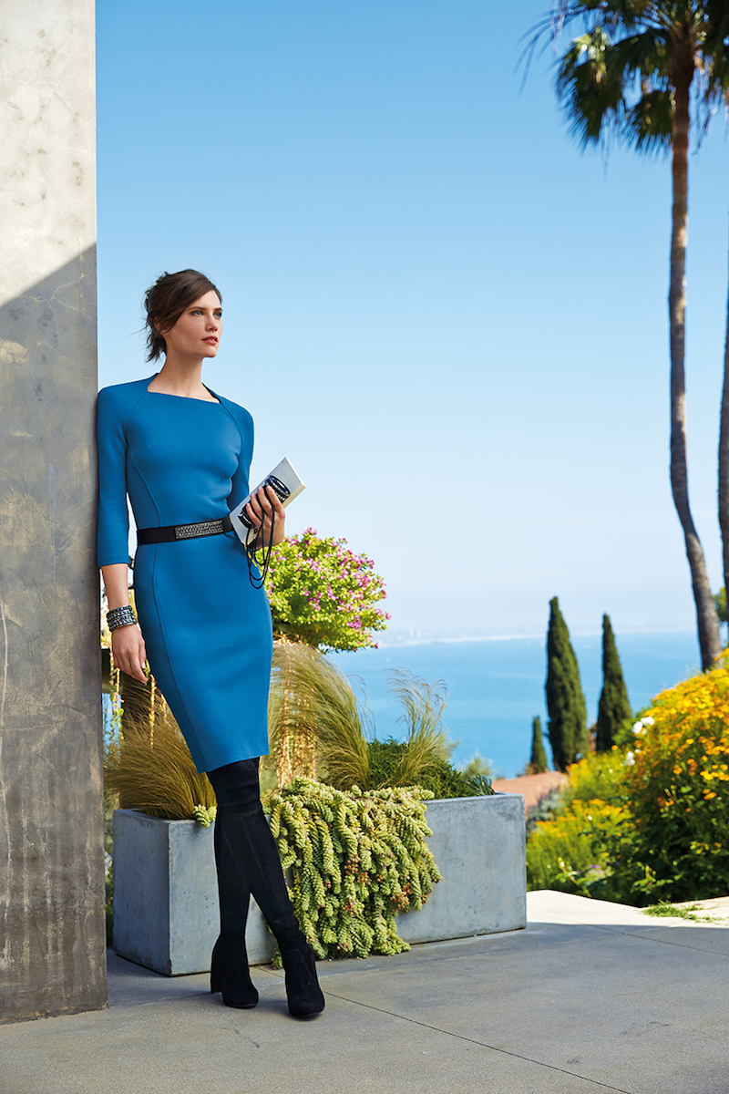 St. John Collection Luxe Sculpture-Knit Sheath Dress