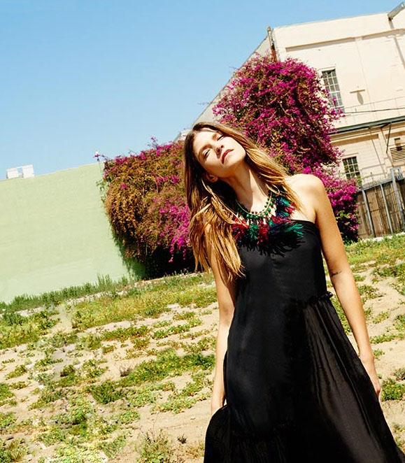 Stella McCartney Amy bow-devoré midi dress